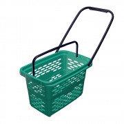 Корзина покупательская пластиковая SHOLS 40л на 4 колесах
