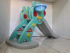 Детская игровая горка Свинка Пеппа с корзиной и рогом., фото 2