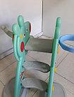 Детская игровая горка Свинка Пеппа с корзиной и рогом., фото 4