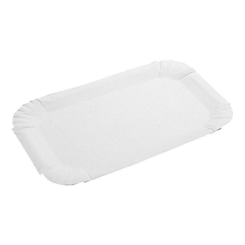 Тарелка, 130х200мм, толщина0.35-0.40мм, белая, картон, 1800 шт