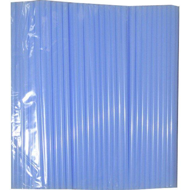 Трубочки д/коктейля прямые d=8мм L=240мм, голубые 250шт/упак, 250 шт