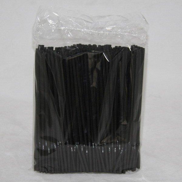 Трубочки д/коктейля гофр. d=5 мм 210мм, черн., ПП, 250 шт