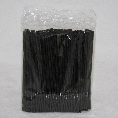 Трубочки д/коктейля гофр. d=5 мм 210мм, черн., ПП, 250 шт, фото 2