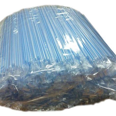 Трубочки д/коктейля прямые в инд. упаковке d=5мм L=210мм, полосатые ПП, 1000 шт, фото 2