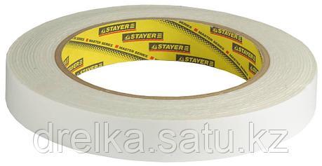 Двухсторонняя клейкая лента на вспененной основе, STAYER Professional 12231-19-05, белая, 19мм х 5м, фото 2