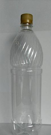 ПЭТ бутылка, прозрачн., 1.5 л, h 317 мм,  с крышкой, 50 шт, фото 2
