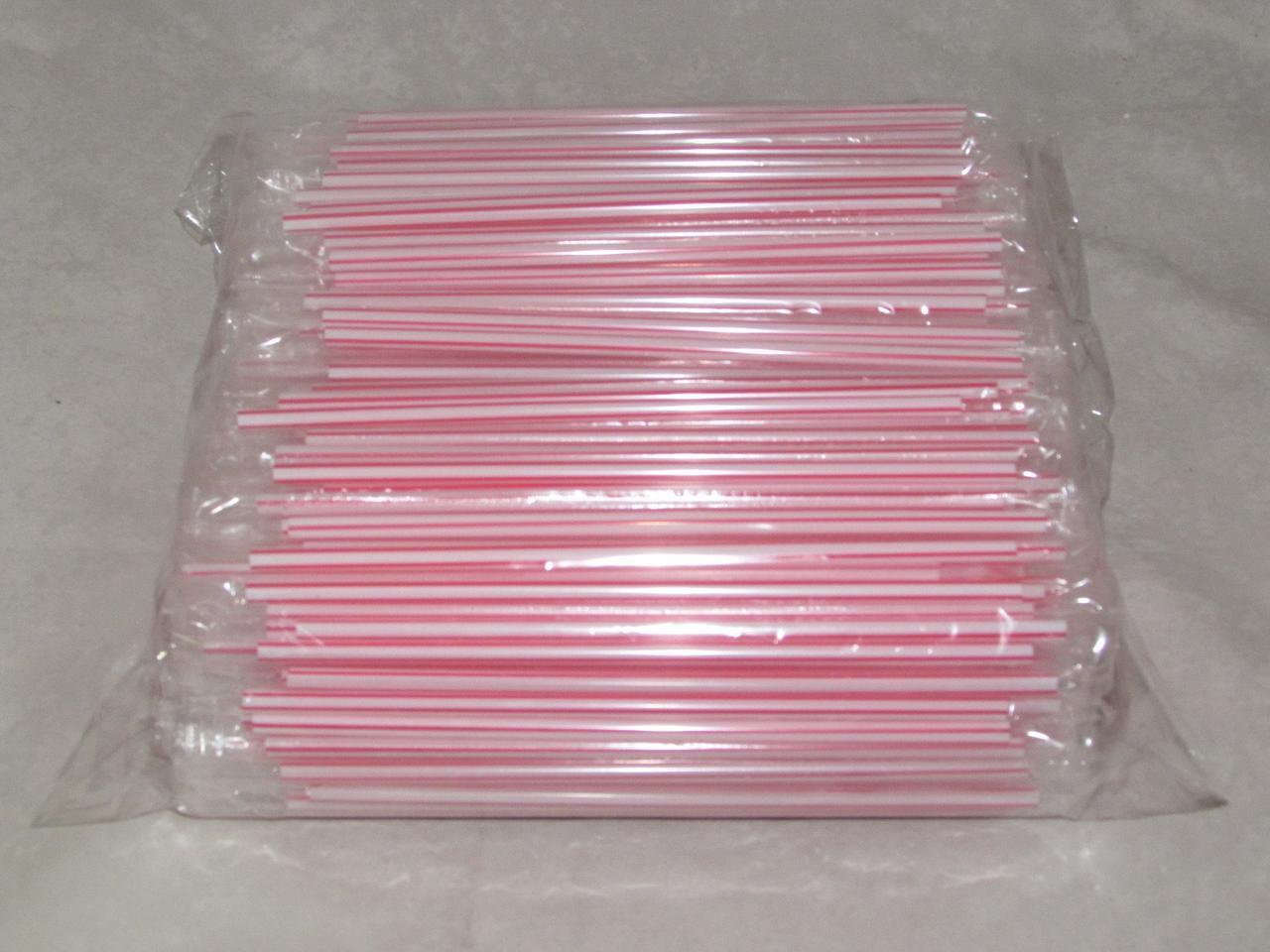 Трубочки д/коктейля прямые  в инд.упаковке полосатые d-8мм L-210мм ПП, 500 шт