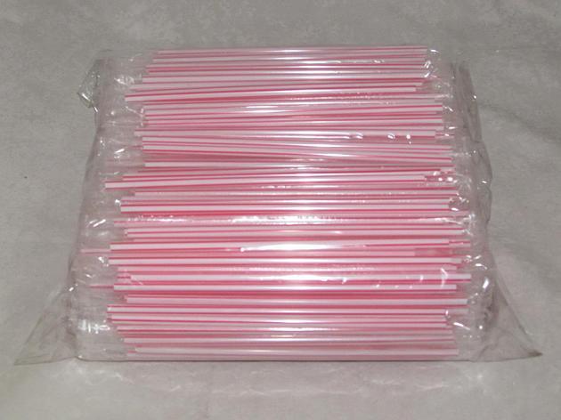 Трубочки д/коктейля прямые  в инд.упаковке полосатые d-8мм L-210мм ПП, 500 шт, фото 2