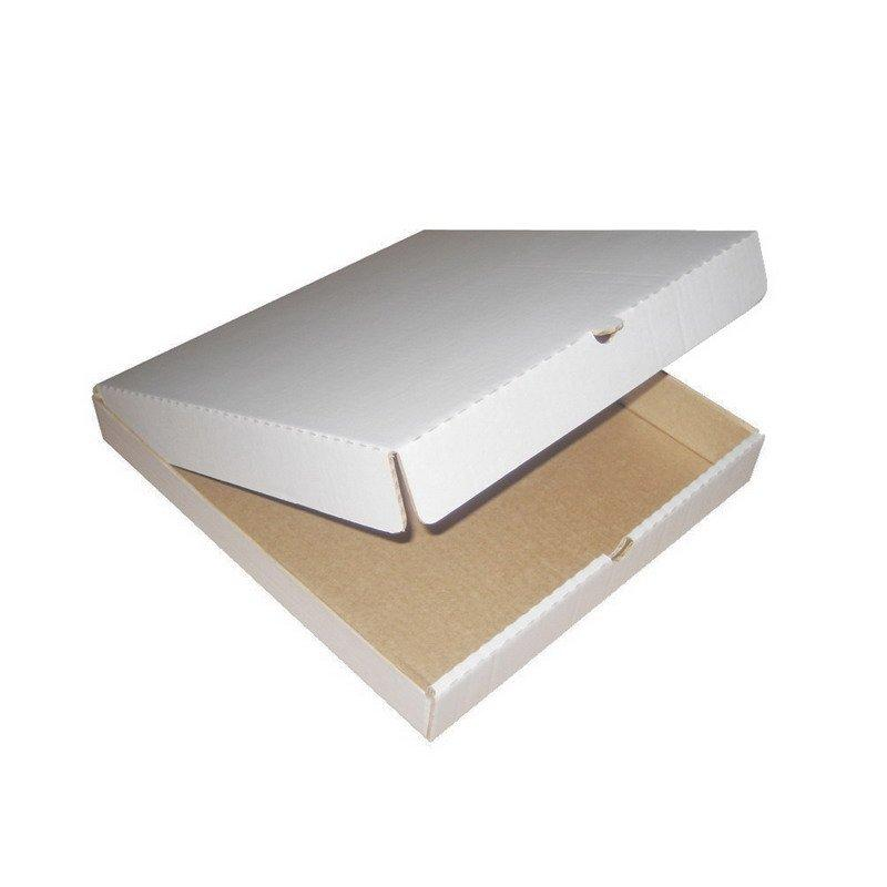 Коробка д/пиццы, 250х250х40мм, бел., микрогофрокартон Е, 50 шт