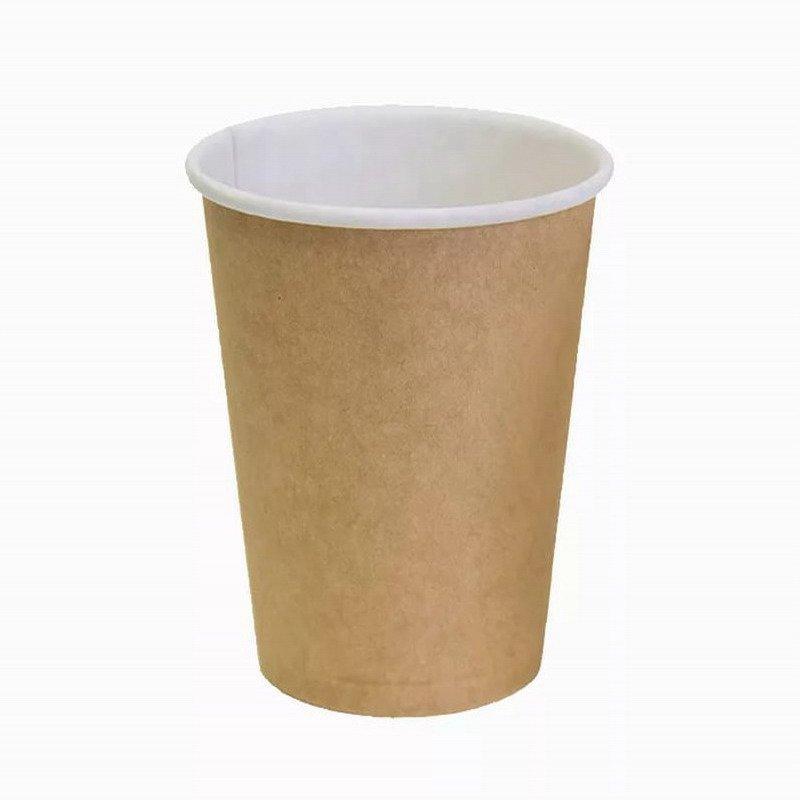 Стакан для холодного и горячего, 0.35/0,43л, коричневый, картон, 1000 шт