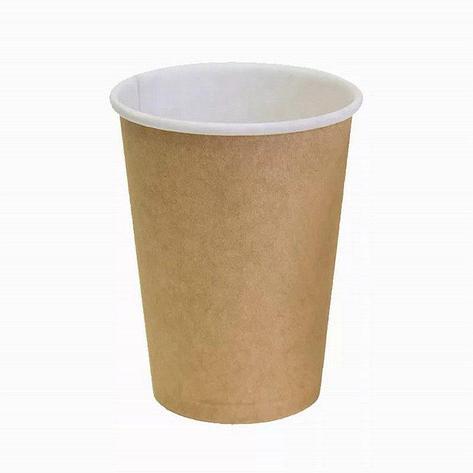 Стакан для холодного и горячего, 0.35/0,43л, коричневый, картон, 1000 шт, фото 2