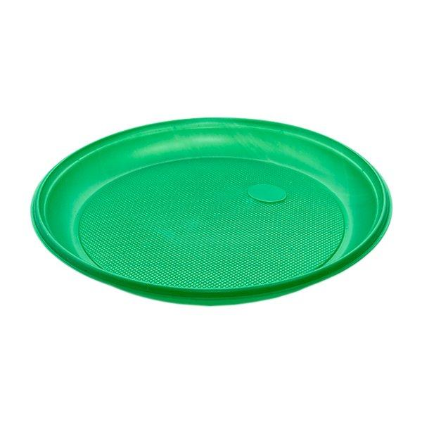 Тарелка d 205мм, зеленая, 2000 шт