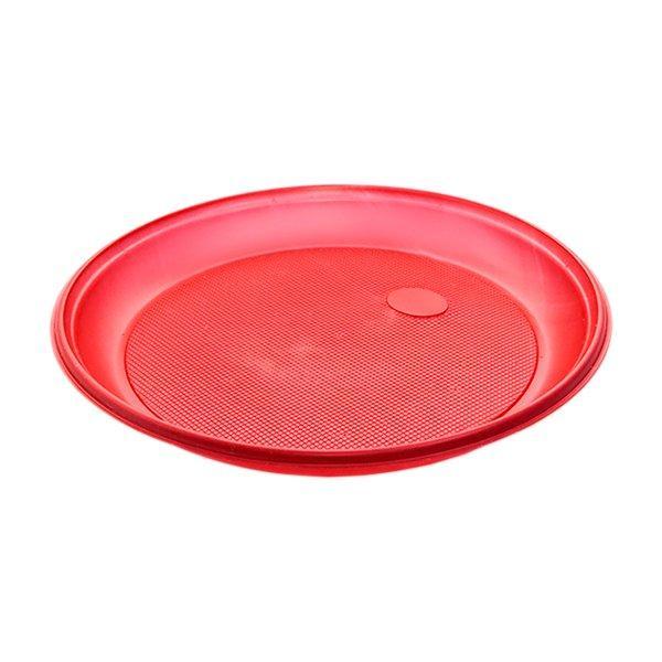 Тарелка d 205мм, красн., ПС, 2000 шт