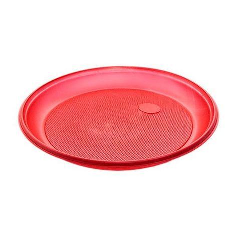 Тарелка d 205мм, красн., ПС, 2000 шт, фото 2