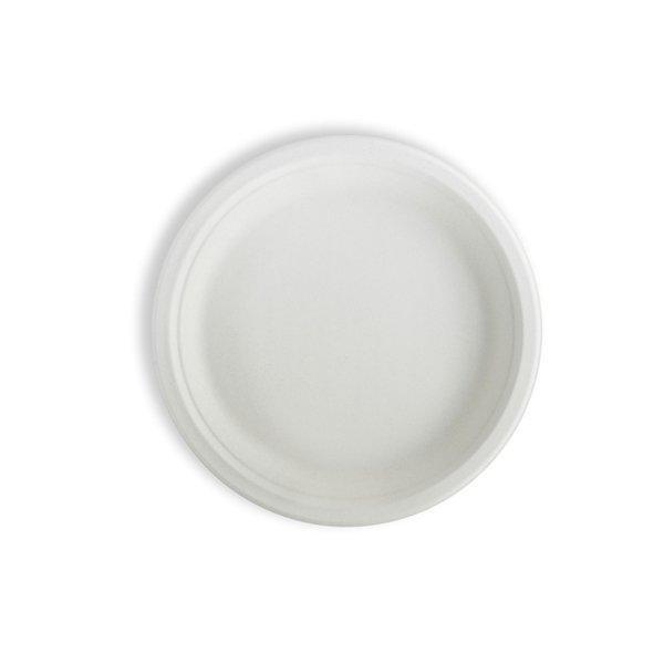 Тарелка кругл., d 228мм, целлюлоза, 350 шт