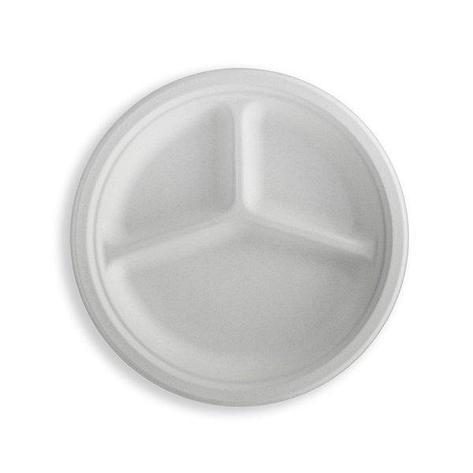 Тарелка кругл., d 262мм, 3-секц., целлюлоза, 350 шт, фото 2