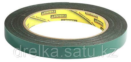 Двухсторонняя клейкая лента на вспененной основе, STAYER Professional 12233-12-05, черная, 12мм х 5м, фото 2