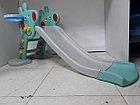 Детская игровая горка Свинка Пеппа с корзиной и рогом - удлиненная, фото 7