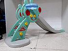 Детская игровая горка Свинка Пеппа с корзиной и рогом - удлиненная, фото 5