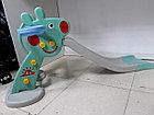 Детская игровая горка Свинка Пеппа с корзиной и рогом - удлиненная, фото 4