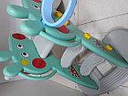 Детская игровая горка Свинка Пеппа с корзиной и рогом - удлиненная, фото 9