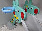 Детская игровая горка Свинка Пеппа с корзиной и рогом - удлиненная, фото 6