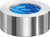 Алюминиевая лента, ЗУБР Профессионал 12262-50-50, до 120 °С, 60мкм, 50мм х 50м