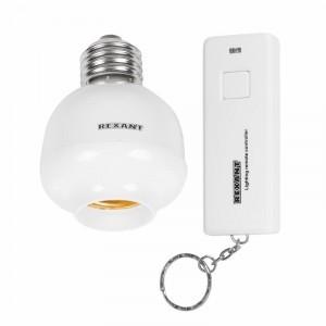 Цоколь 10-6016 для лампочки, с пультом дистанционного управления REXANТ RX-15