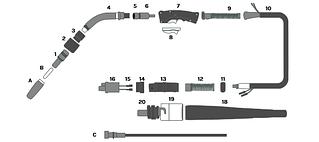 MIG TORCH - MODEL: BRN - SPARE PARTS