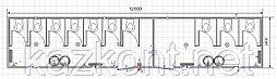 Контейнер 40ф под санузел (модульные здание под туалет)