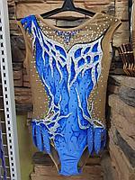 Купальник гимнастический для выступлений Эльза размер 32 на рост 122-128, фото 1