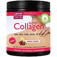 Neocell, Super Collagen СУПЕР КОЛЛАГЕН 6600 мг. в мерной ложке. 30 порций на 30 дней. С ягодным вкусом.