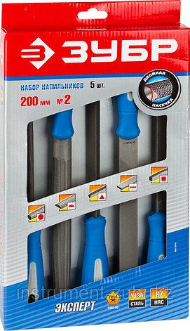 """Напильники """"ПРОФЕССИОНАЛ"""" с двухкомп ручкой, плоский, полукруглый, трехгранный, квадратный, круглый, №2, 200мм, фото 2"""
