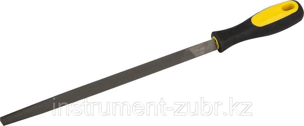 """Напильник STAYER """"PROFI"""" трехгранный, с двухкомпонентной рукояткой, № 1, 200мм"""