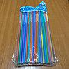 Трубочки для напитков, цвета в ассортименте, 100 шт, пластик