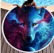 """Коврик для пляжа """"волк"""""""