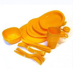 Набор пластиковой посуды для пикника 48 предметов, фото 2