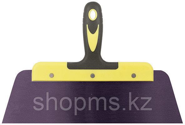 """Шпатель фасадный """"Мастер"""", пружинная колоризованная сталь, двухкомпонентная ручка, плоский 125 мм"""