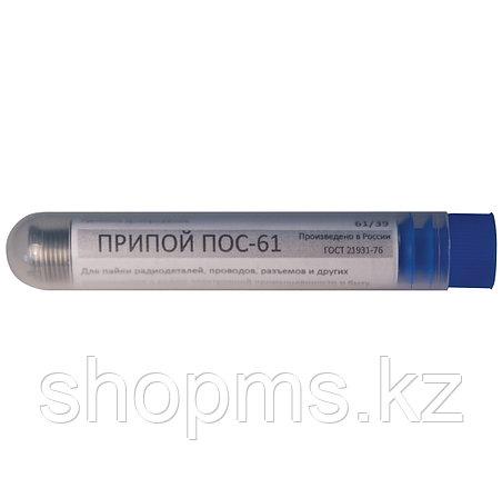 Припой оловянно-свинцовый ПОС 61 с канифолью, проволока диаметр 1 мм, 12 гр. ( в тубе ), фото 2