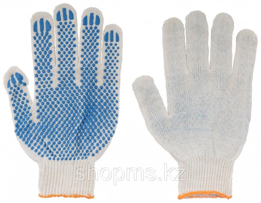 Перчатки вязаные (3 нити), х/б, с ПВХ, 10 класс вязки*