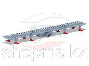 TLQ1285M Трап пластиковый линейный сухой 850х62, диаметр выпуска 40 мм, решетка нержавеющая сталь, м