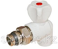 ППРС Кран для радиатора угловой 25 х 3/4 наружная резьба RVC