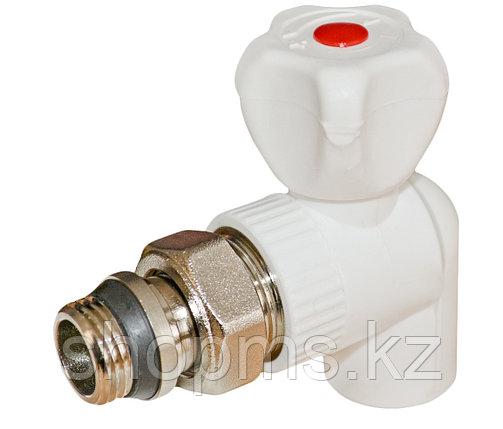 ППРС Кран для радиатора угловой 25 х 3/4 наружная резьба RVC, фото 2