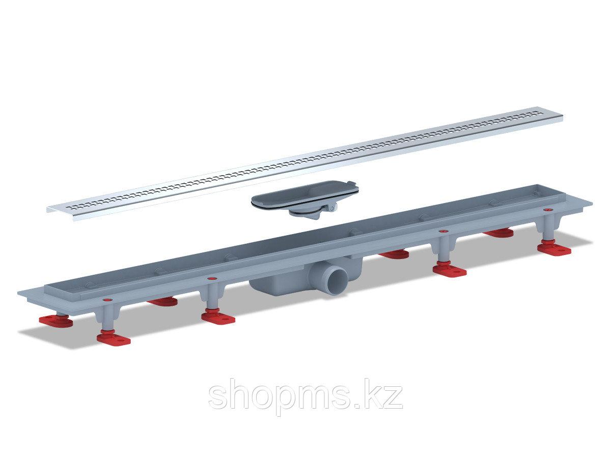 TLQ1285G Трап пластиковый линейный сухой 850х62, диаметр выпуска 40 мм, решетка нержавеющая сталь, г
