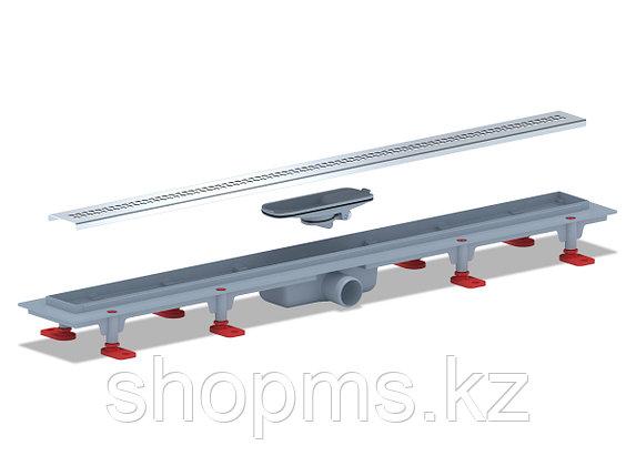 TLQ1285G Трап пластиковый линейный сухой 850х62, диаметр выпуска 40 мм, решетка нержавеющая сталь, г, фото 2