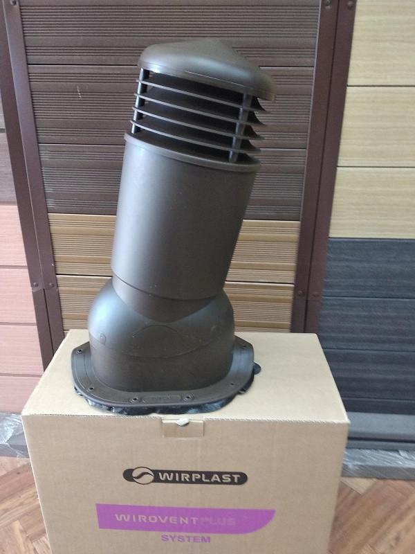 Вентиляционный выход К95 D 125/110 мм с проходным элементом для кровли из металлочерепицы