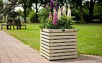 Кашпо, кадка, вазон деревянный для растений и деревьев (квадрат)