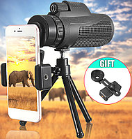 Монокуляр с зажимом для телефона Тренога Чехол Panda 35x50, фото 1