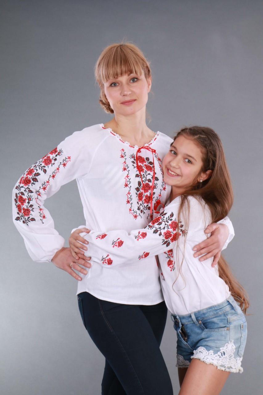 """Вышиванка на девочку """"Роза рушничок"""" Собственное производство, 98-146 - фото 7"""