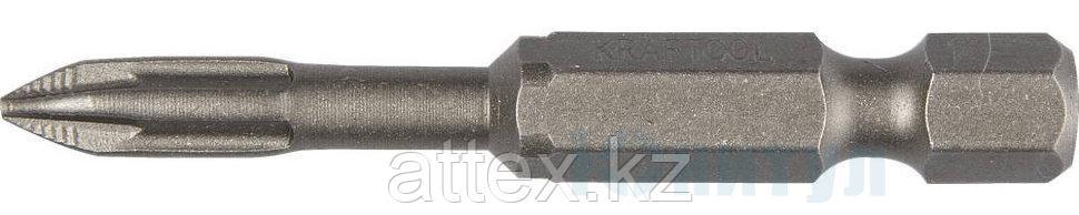 """Биты """"X-DRIVE"""" торсионные кованые, обточенные, KRAFTOOL 26123-3-50-2, Cr-Mo сталь, тип хвостовика E 1/4"""", PZ3,"""
